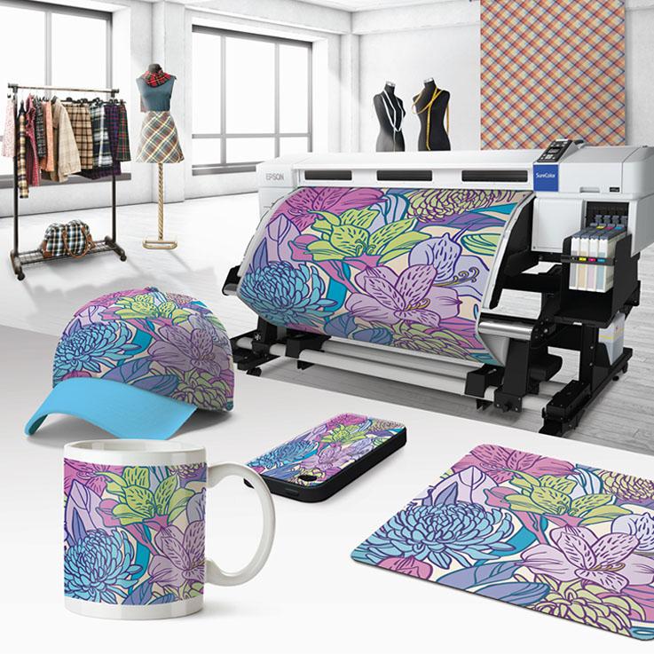 impression sublimation sur papier avant transfert presse. Black Bedroom Furniture Sets. Home Design Ideas